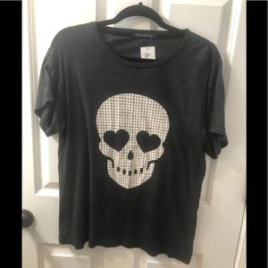 NWT Wildfox oversized skull tee, Small
